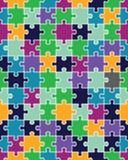 Красочная головоломка, безшовная стоковые изображения rf