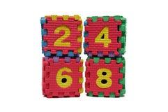 Красочная головоломка куба четных чисел Стоковые Фотографии RF