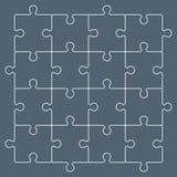 Красочная головоломка соединяет формировать квадратную диаграмму swot Стоковое фото RF