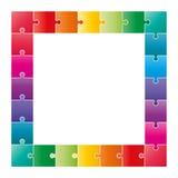 Красочная головоломка соединяет формировать квадратную диаграмму swot бесплатная иллюстрация