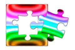 Красочная головоломка one piece металла Стоковое Изображение RF