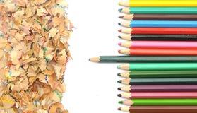 Красочная граница карандаша стоковое фото