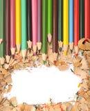 Красочная граница карандаша стоковые изображения