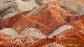 Красочная группа landform Danxia Стоковое Изображение RF