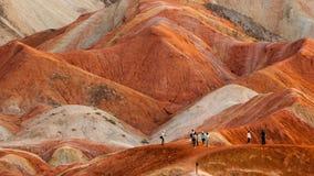 Красочная группа landform Danxia Стоковые Фото
