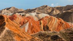 Красочная группа landform Danxia Стоковая Фотография RF