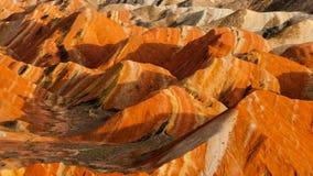 Красочная группа landform Danxia Стоковая Фотография