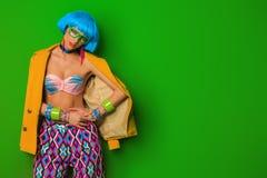 Красочная девушка моды Стоковая Фотография RF