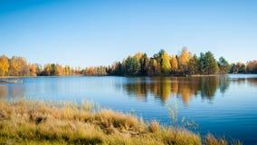 Красочная долина осени стоковые фотографии rf