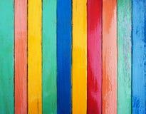 Красочная деревянная текстура пола планки Стоковые Изображения RF