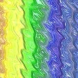 Красочная жидкость любит абстрактная текстура ровный с yel голубого зеленого цвета Стоковые Изображения RF