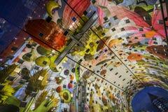 Красочная зала рынка, Роттердам Стоковая Фотография