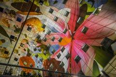 Красочная зала рынка, Роттердам Стоковое Фото