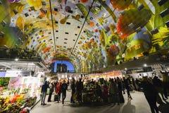 Красочная зала рынка, Роттердам Стоковое фото RF