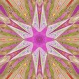 Красочная звезда пинка витража Стоковые Изображения RF