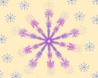 Красочная звезда фрактали мандалы цветка иллюстрация вектора