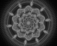 Красочная звезда фрактали мандалы цветка иллюстрация штока