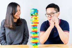 Красочная игра стога деревянных блоков Стоковое Изображение RF
