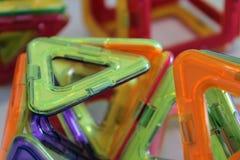 Красочная игра 3D магнита для детей Стоковое фото RF