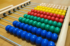Красочная игрушка абакуса для детей Стоковые Фото