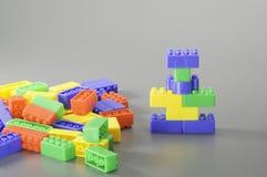 Красочная игрушка кирпича Стоковая Фотография