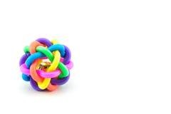 Красочная игрушка шарика собаки изолированная на белой предпосылке Стоковое Фото
