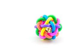 Красочная игрушка шарика собаки на белой предпосылке Стоковые Изображения
