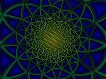 Красочная излучающая полигональная зеленая голубая иллюстрация предпосылки Стоковое фото RF
