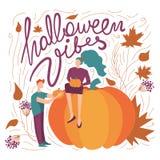 Красочная иллюстрация флюидов хеллоуина вектора сезонная праздничная концепция хеллоуина тематическая иллюстрация штока