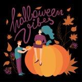 Красочная иллюстрация флюидов хеллоуина вектора фиолетовый, зеленый, апельсин и чернота иллюстрация вектора