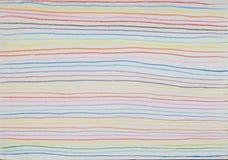 Красочная линия предпосылка сделанная от цвета карандаша Стоковая Фотография
