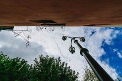 Красочная и живая зона Ла Boca, его ` s Caminito в Буэносе-Айрес стоковое фото rf