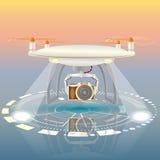 Красочная иллюстрация вектора трутня камеры Стоковое Изображение RF