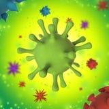 Красочная иллюстрация вируса 3D схематическая медицинская Стоковое фото RF