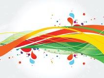 Красочная иллюстрация дизайн-вектора выплеска Стоковое Фото