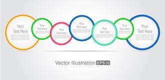 Красочная иллюстрация дизайн-вектора конспекта круга Стоковая Фотография RF