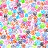 Красочная иллюстрация предпосылки карандашей монеток ОАЭ Стоковая Фотография RF
