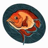 Красочная иллюстрация рыб 2 Стоковые Изображения RF