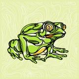 Красочная иллюстрация лягушки 1 Стоковое фото RF