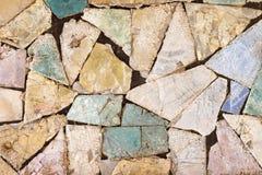Красочная каменная мозаика с хаотической картиной, безшовной текстурой фото предпосылки Стоковые Фотографии RF