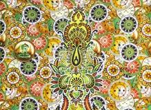 Красочная картина батика fablic стоковая фотография rf