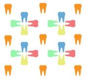 Красочная картина зубов иллюстрация вектора