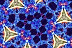 Красочная картина калейдоскопа для дизайна и предпосылок Стоковое Изображение