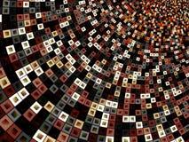 Красочная картина квадратов внутри квадраты Стоковые Изображения