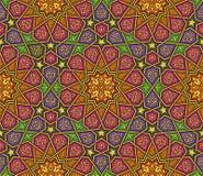 Красочная картина орнамента арабескы иллюстрация вектора