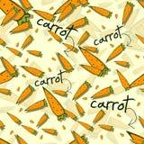 Красочная картина с морковами Иллюстрация вектора