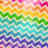 Красочная картина Ikat волны Шеврона Стоковые Фото
