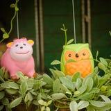 красочная керамика украшенная в саде Стоковые Фотографии RF