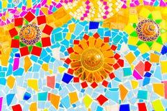 Красочная керамическая плитка мозаики Стоковое фото RF