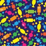 Красочная конфета на безшовной картине Стоковое фото RF